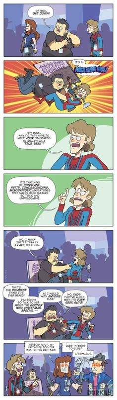 So, fake geeks are made by aliens or Skynet? (via Dorkly)