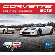 "Corvette Desk Calendar: The Corvette Car-a-Day 2013 Desk Calendar features over 300 color and black & white photos of the legendary ""American Sports Car."" With a rich mix of historical, detail, and portrait photography, Corvette lovers will look forward to every new day and every new photo celebrating these beautiful cars.  $14.99  calendars.com/..."