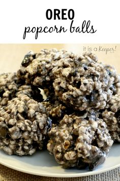 This easy popcorn ball recipe goes over the top with crushed oreos.  It's one of of my favorite Oreo recipes!