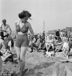 By the seaside: Blackpool beach, pictured in 1949, was a popular holiday resort