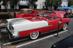 1955 Chevrolet Bel Air cnv - red white - rvr