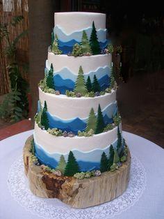wedding cakes, Giorgi's Wedding Cakes HOME Pretty Cakes, Beautiful Cakes, Amazing Cakes, Wedding Cake Designs, Wedding Cakes, Mountain Cake, Nature Cake, Pear Cake, Cake Creations
