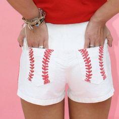Baseball Shorts. LOVE!