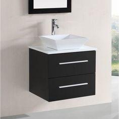 Compare & Buy 24 Single Bathroom Vanity Set By Belvedere Bath Black Bathroom Sink, Single Sink Bathroom Vanity, Basin Cabinet, Bedroom Bed Design, Diy Home Repair, Vanity Set With Mirror, Basement Remodeling, Bathroom Furniture, Bathroom Inspiration