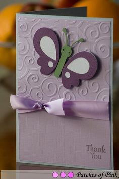 Patches of Pink Shop: Purple Butterfly Card - she's got great stuff!