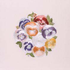 日本刺繍ギャラリー《基礎・中級コース作品》 || 日本刺繍【紅会】Kurenai-kai.jp
