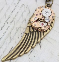 Angels+ Steampunk, a necklace to represent fallen angels.