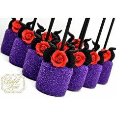 Disney Maleficent Marshmallow Pops