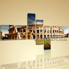 """Rome Colosseum Large Landscape Picture Canvas Wall Art Print World Attraction Extra Large Wall Art, Gallery Wrapped, by Bo Yi Gallery 76""""x44"""". Rome Colosseum Large Landscape Picture Canvas Wall Art Print World Attraction Subject : Historic Style : Photography Panels : 5 Detail Size : 24""""x16""""x2,8""""x30""""x3 Overall Size : 76""""x44"""" = 193cm x 112cm Medium : Giclee Print On Canvas Condition : Brand New Frames : Gallery wrapped [FEATURES] Lightweight and easy to hang. High revolution giclee..."""