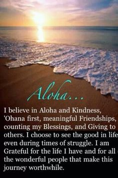 A is for Aloha. This is me and This is why I feel home in Hawaii! Aloha spirit is contagious. Thema Hawaii, Mahalo Hawaii, Big Island, Island Life, Hawaiian Quotes, Aloha Quotes, Hawaiian Phrases, Hawaiian Theme, Beach Quotes