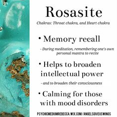 Rosasite crystal meaning