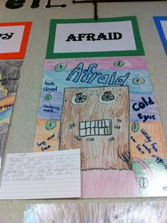 Show, don't tell... draw and write about a specific emotion without saying what it is...great idea!