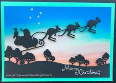 Australian Christmas Cards, Aussie Christmas, Christmas Tree, Christmas In Australia, Card Companies, Shaped Cards, Cricut Cards, Christmas Quotes, Paper Roses