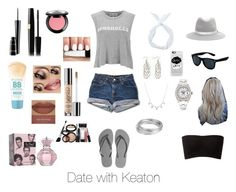 """Date with Keaton"" by pandoralove99 ❤ liked on Polyvore featuring Wildfox, Havaianas, Casetify, rag & bone, Rolex, Worthington, MAC Cosmetics, NYX, Maybelline and Sephora Collection"