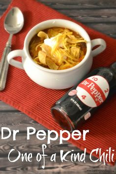 Dr Pepper, One of a Kind, College Football, Dr Pepper One of a Kind Chili #Recipe, Dr Pepper recipes.  Easy Chili recipes.