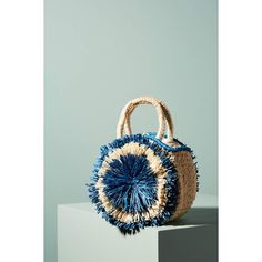 Aranaz Fringed Clarita Tote ($248) ❤ liked on Polyvore featuring bags, handbags, tote bags, blue, blue fringe purse, fringe handbags, tote bag purse, blue tote and fringe tote