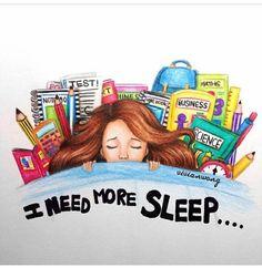 Imagen de sleep, school, and need