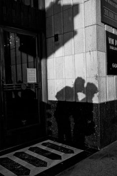 Shadow show: Rinzi Ruiz catches the shadow of a couple kissing in downtown L.A. in this Jan. 29 photo