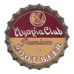 Myopia Club Root Beer bottle cap