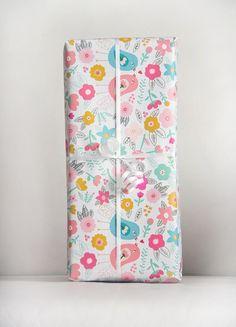 Lovebirds #gift #wrap #eco #paper deigned by Carolyn Gavin
