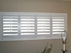 bi-fold plantation shutters for the basement windows