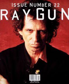"David Carson (designer), Ray Gun cover #22 ""Keith Richards"", December 1994/ January 1995"