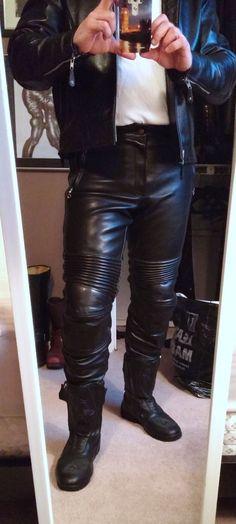 Mens Vanson Leathers Traveler Leather Pants | eBay