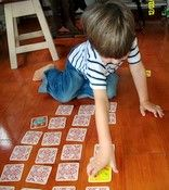 Activities to work on crossing the midline. From OT Mom Learning Activities.