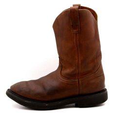 Laredo Cowboy Boots size 9 EE leather western work wellington roper performair #Laredo #CowboyWestern