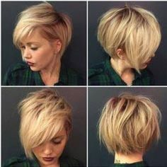 The chicest punk rock look you'll see all summer. This look combines baby bangs - a fringe above your eyebrows - and a short bob. This...