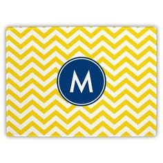 Boatman Geller Chevron Single Initial Cutting Board Letter: L