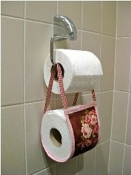 Tutorial Fabric Sleeve To Hold A Spare Roll Of Toilet Paper