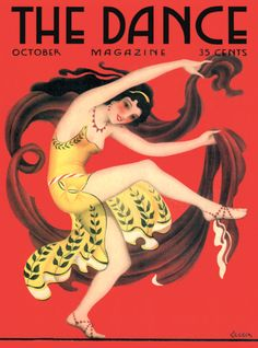 Willy Pogany, Metropolitan magazine, Inspired by Leon Bakst's odalisque costumes for the Ballet Russes production of Scheherazade. Dance Magazine, Magazine Art, Magazine Covers, Vintage Ephemera, Vintage Art, Vintage Prints, Vintage Vogue, Old Magazines, Vintage Magazines