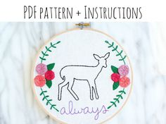 PATTERN: Snape's Patronus Always Hand Embroidery by makingjiggy