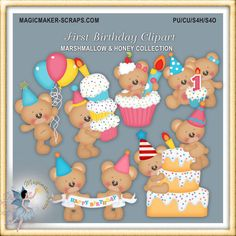 Hey, I found this really awesome Etsy listing at https://www.etsy.com/listing/195985437/birthday-teddy-bear-clipart
