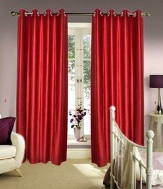 Shop HOME ELITE BEAUTIFUL POLYESTER DOOR CURTAINS (SET OF 2) RG-CTT-302 Online for best deal
