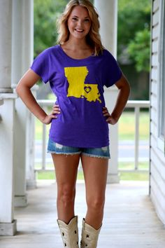 LSU gameday outfit Hazel and Olive Lsu Game, Outfits 2014, Game Day Shirts, Football Outfits, Cute Fall Outfits, Cute Shirts, Passion For Fashion, Autumn Winter Fashion, Lsu Tigers