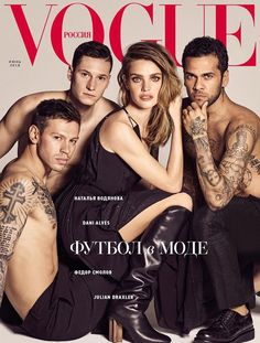 Natalia Vodianova Joins Footballers in Louis Vuitton for Vogue Russia 0034d3cdea04d