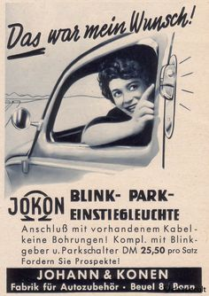 instead of semaphores you can put these Jokon turn signal parking and boarding lights on your VW Split and Oval, source: Gute Fahrt Magazine 09/1958