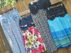 Up-cycling old jeans & skirts!