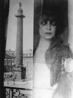 Marchesa Luisa Casati photographed in the Place Vendome, Paris by Man Ray, 1922.
