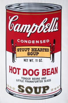 CAMPBELL'S SOUP HOT DOG BEANS | Andy Warhol, CAMPBELL'S SOUP HOT DOG BEANS (1968)
