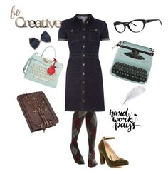 """""""Paperback Writer"""" by coloradocutie ❤ liked on Polyvore featuring ASOS, Dorothy Perkins, Vera Wang, Chase & Chloe, Kate Spade and Letter2Word"""