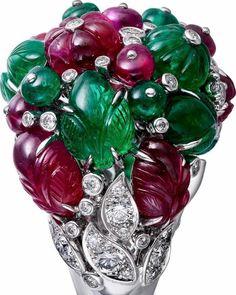High Jewelry, Jewelry Rings, Jewellery, Tutti Frutti, Ornament Wreath, Cartier, Jewelry Collection, Flora, Jewels