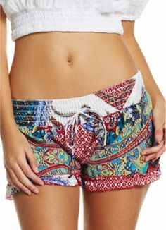 Our favorite summer shorts in a super fun print! Wear for day or night! Super comfy....match with any of our cute tops!