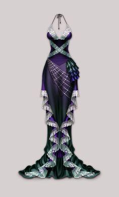 Anima: Arachne dress by `Wen-M on deviantART