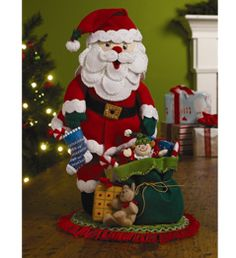 Bucilla ® Seasonal - Felt - Home Decor - Traditional Santa, 3-D. #bucilla #christmas #plaidcrafts