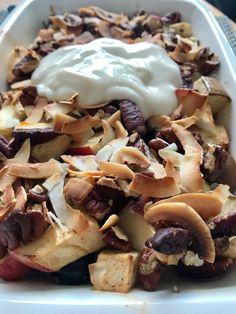 SANSkeuken—#veganbreakfast #veganontbijt  Gegratineerde fruitsalade