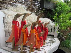 Ande familien er klar til efteråret på bænken