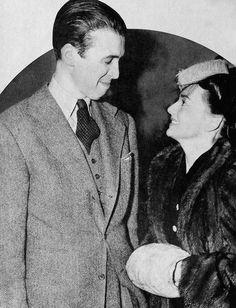 Jimmy Stewart and Olivia de Havilland, circa 1940